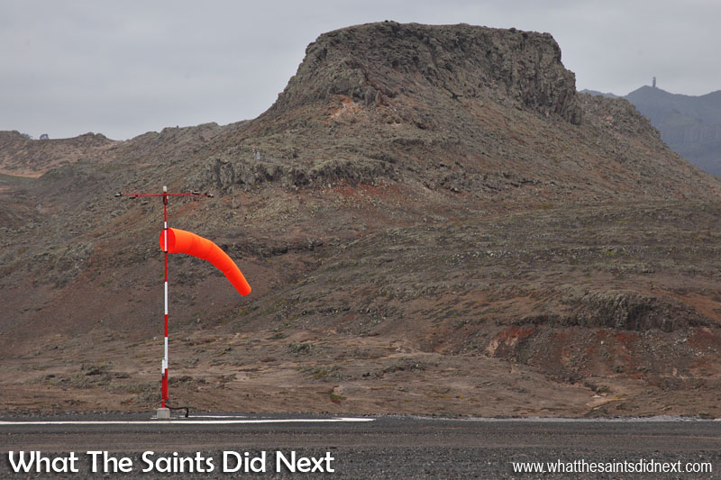 Wind speeds were low today. Would have been a good day for aircraft to land! St Helena Airport's first runway dash.