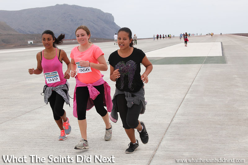 St Helena Airport's first ever runway dash - 29 August 2016.