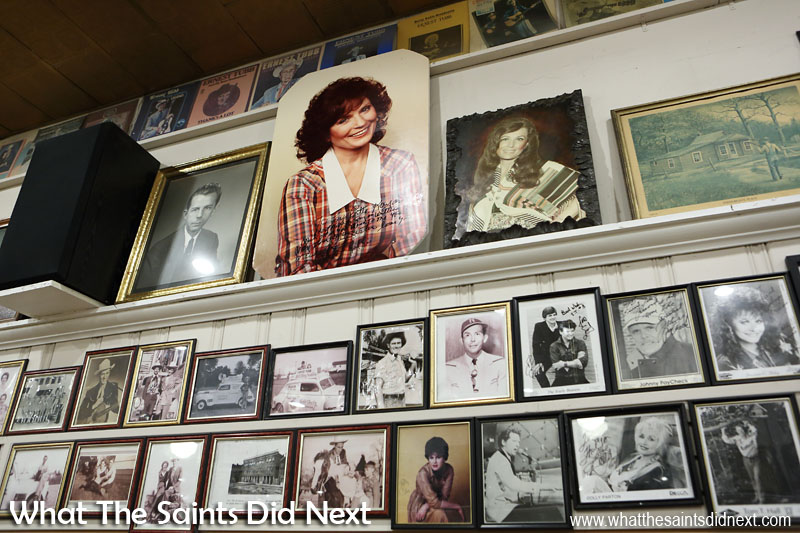 In the Ernest Tubb Record Shop, Nashville, Tennessee, 90% of all the pictures on the walls are country music artists who've played for the Midnite Jamboree.