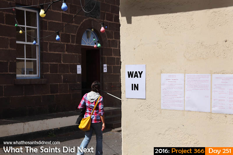 'Headphones' 7 September 2016, 10:15 - 1/640, f8, ISO-200 What The Saints Did Next - 2016 Project 366 Jamestown community centre becomes a polling station for a St Helena bye-election.
