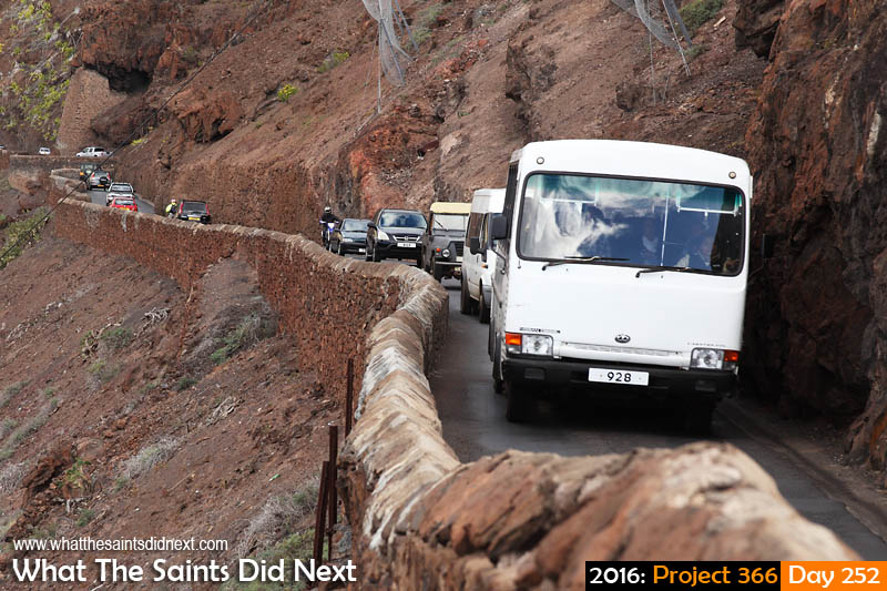 'Sidney's voice' 8 September 2016, 16:17 - 1/80, f8, ISO-100 What The Saints Did Next - 2016 Project 366 Four o'clock traffic on Ladder Hill road, St Helena.