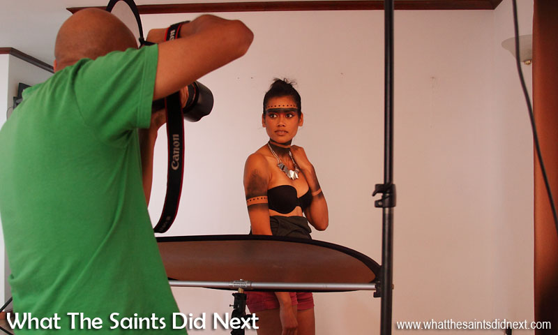 Behind the scenes on our International Day of Beauty photoshoot, with St Helena model, Jodi Wade.