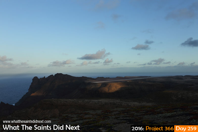 'Hinkley' 15 September 2016, 17:49 - 1/250, f8, ISO-200 What The Saints Did Next - 2016 Project 366 St Helena Airport, 1 year anniversary of the first ever plane to land on the island.