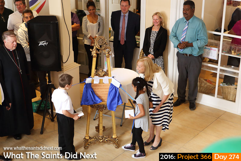 'Diamonds' 30 September 2016, 11:21 - 1/80, f5.6, ISO-800 What The Saints Did Next - 2016 Project 366 Official re-opening of The Market in Jamestown, by Governor of St Helena, Lisa Phillips.
