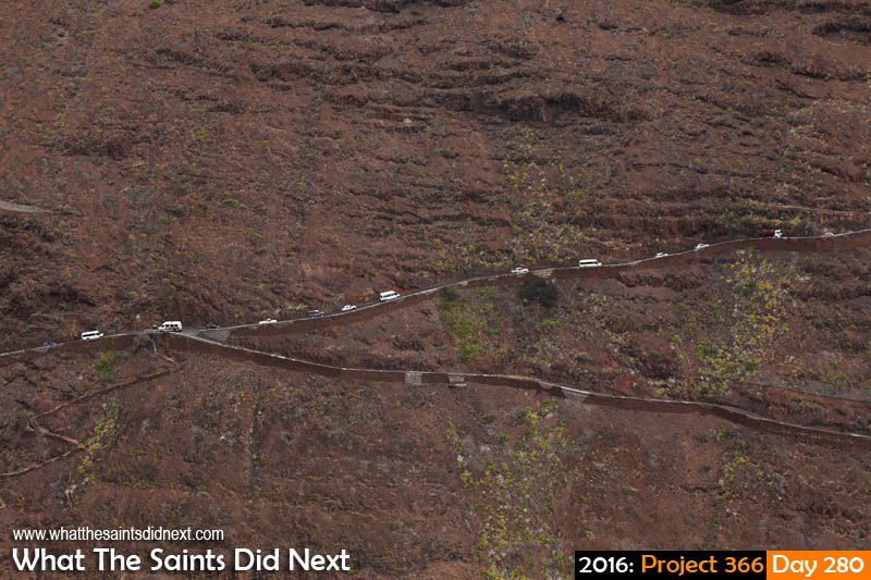'Altercation' 6 October 2016, 16:15 - 1/250, f8, ISO-200 What The Saints Did Next - 2016 Project 366 4 o'clock traffic on Ladder Hill Road, St Helena.