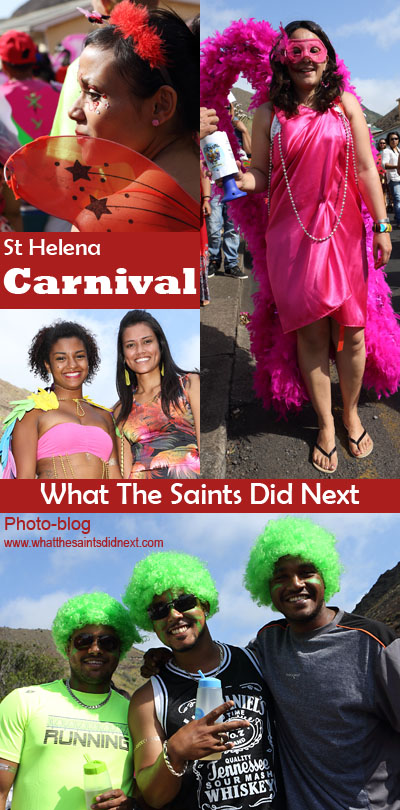 Carnival 2016, St Helena Island, raising funds for the local charity 'Cancer Support and Awareness.' This year's theme, 'Taking Flight.'