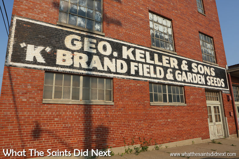 Geo. Keller & Sons.  'K' brand field and garden seeds. Quincy, IL. Located in the 'Gem City' on the Mississippi River, this 134 year old business closed in 2014 having succumbed to economic challenges, it had been family run for four generations since 1880.  They sold farm machinery, fodder seeds and garden products.