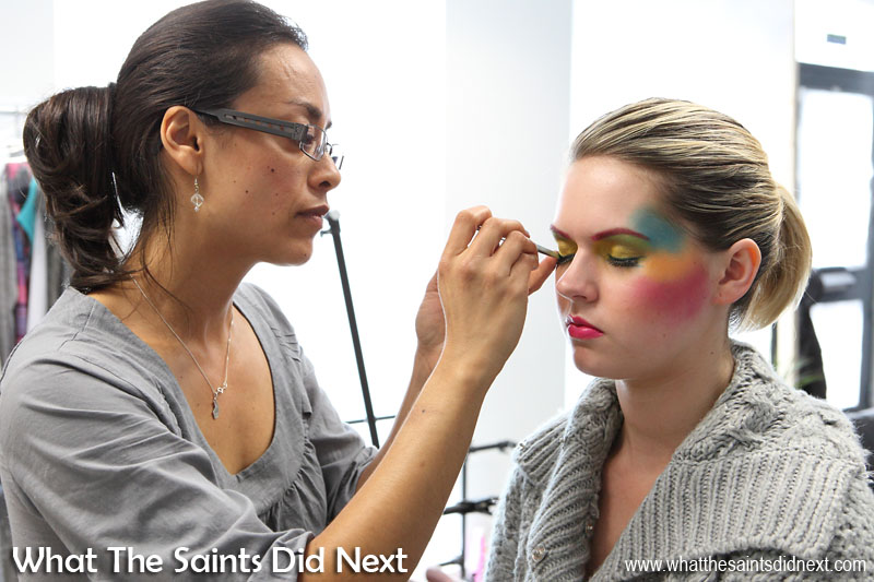 Another important artist I must not forget! Photoshoots are 10 times better when you have a make-up artist to work with. Here we are with Carly who is holding very still while Sharon creates a butterfly beauty shoot look. International Artist Day 2016.