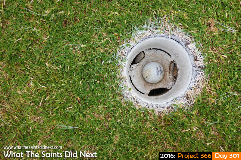 'Contamination' 27 October 2016, 11:03 - 1/800, f3.3, ISO-100 What The Saints Did Next - 2016 Project 366 In the putt on the seventh.