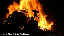 Guy Fawkes Day celebrated on St Helena, 5 November 2016, finishes with a bonfire in Sandy Bay.