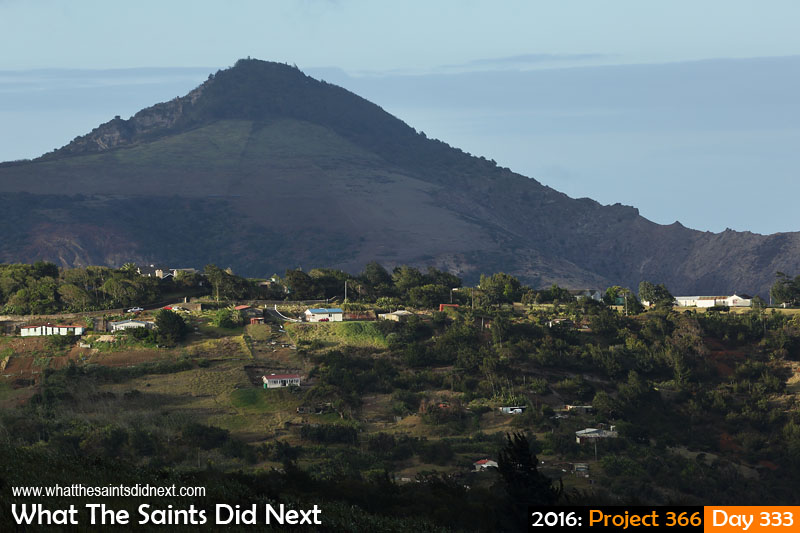 'OSU rampage' 28 November 2016, 17:51 - 1/320, f8, ISO-200 What The Saints Did Next - 2016 Project 366 Rising hulk of Flagstaff looking down on Longwood, St Helena.