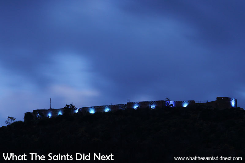 Official lighting of High Knoll Fort takes place at 7.21pm, Friday 16 December 2016. The moment is shared by small groups of people gathered at various viewing points around the island. Lighting High Knoll Fort, St Helena.