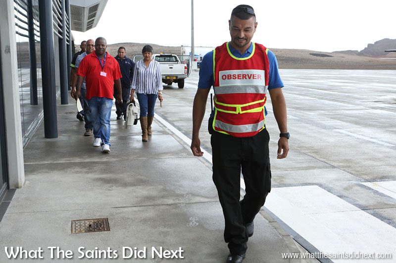 Volunteers and airport staff taking part in a disaster training exercise at St Helena Airport on 17 June. St Helena 2016: The Year In Review