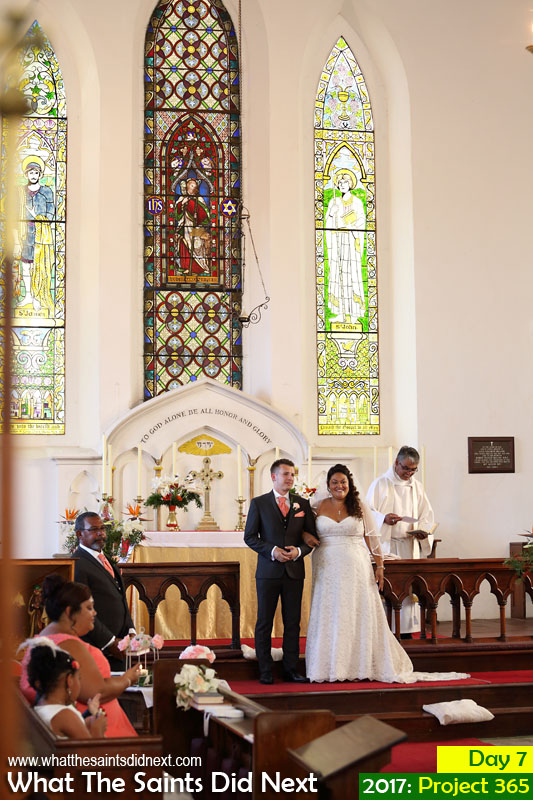 'Debt record' 7 January 2017, 15:53 - 1/80, f4.5, ISO-800 What The Saints Did Next - 2016 Project 366 Wedding of Sarah-Lee and George Rogers at St James Church, St Helena.