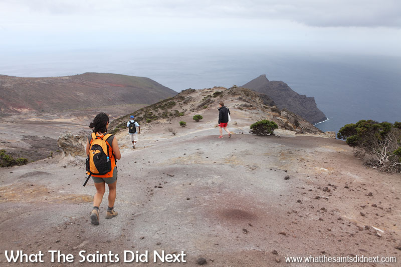 Sugar Loaf Post Box walk, St Helena. The grey day is not the best for photos but at least we kept cool.