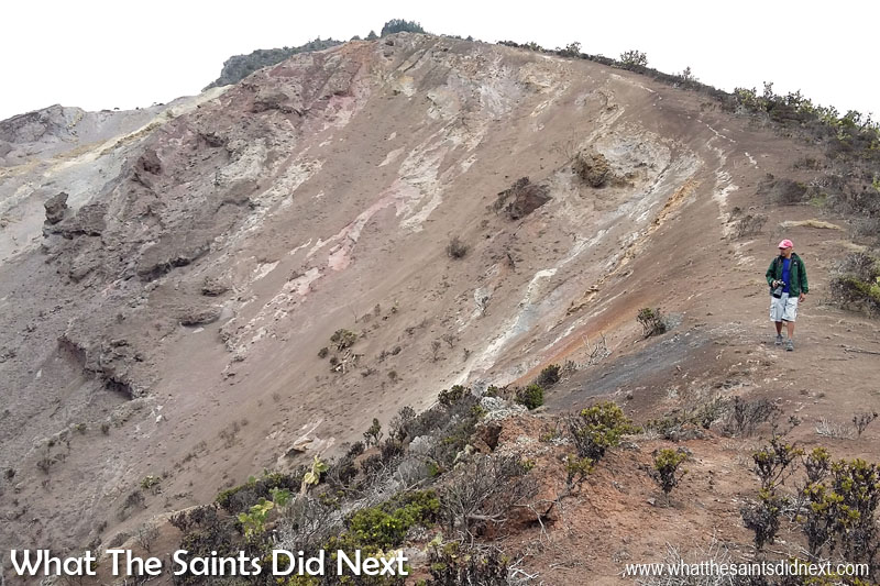 Sugar Loaf Post Box walk, St Helena. The trail is very easy to follow, right along the spine of the ridge.