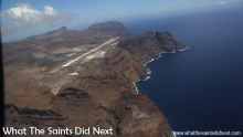 Flying from St Helena Airport.