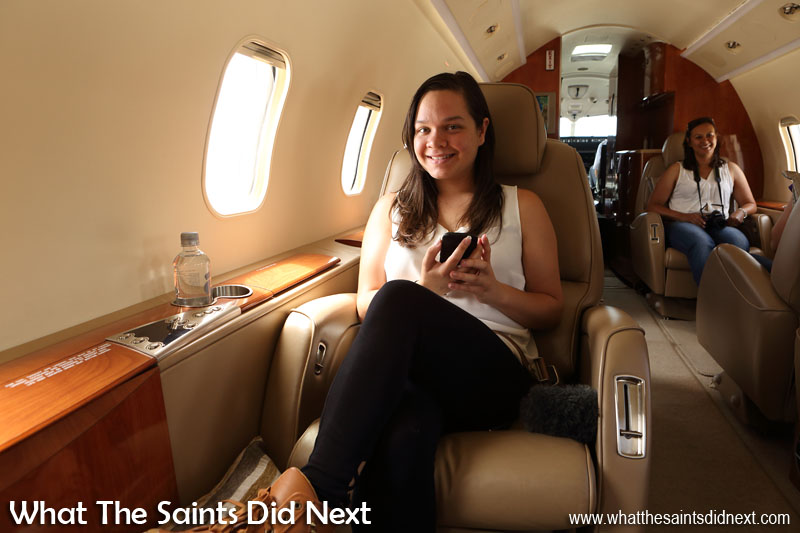 Jodie Scipio-Constantine. Flying from St Helena Airport.