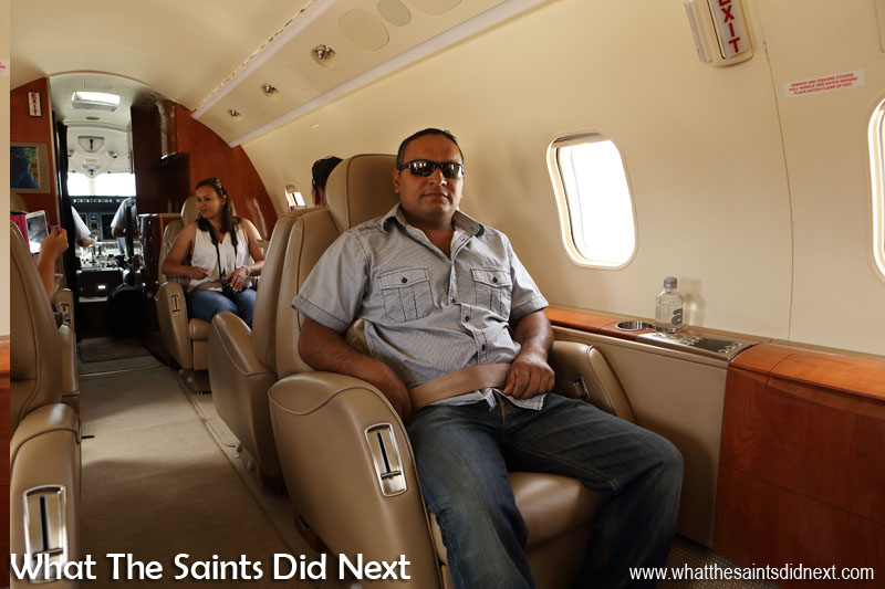 Adrian Duncan. Flying from St Helena Airport.