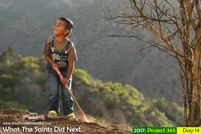 'Med 100' 14 January 2017, 18:07 - 1/200, f5.6, ISO-100 What The Saints Did Next - 2016 Project 365. A young boy at play on St Helena.