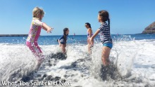 Things To Do With Kids On St Helena - Swimming off Rupert's Beach.