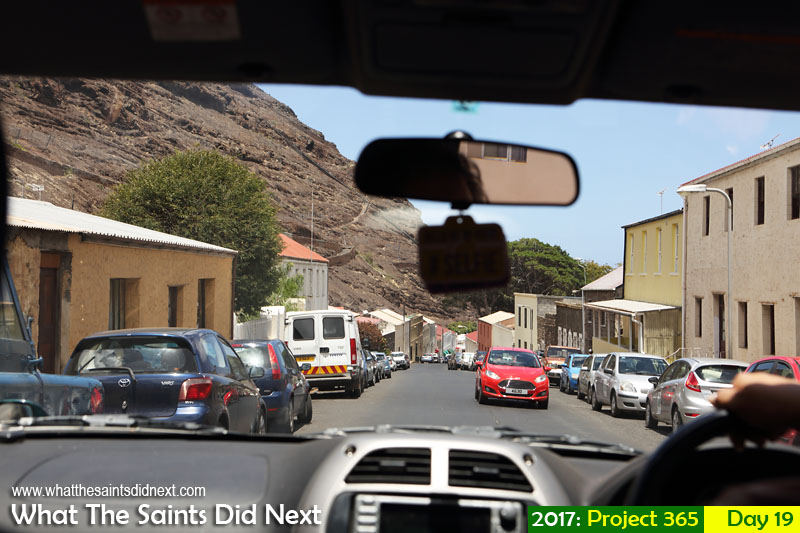'Different rules' 19 January 2017, 12:05 - 1/400, f8, ISO-200 What The Saints Did Next - 2016 Project 365. Driving through Market Street, Jamestown, St Helena.