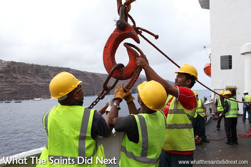 Breeze 3 features 'Labour Take-On Time,' a picture story about the men who 'work ship' at St Helena.