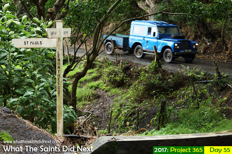 'Mosul move' 24 February 2017, 16:30 - 1/100, f5.6, ISO-500 What The Saints Did Next - 2017 Project 365 Wet country roads on St Helena as a long period of sustained rain continues.