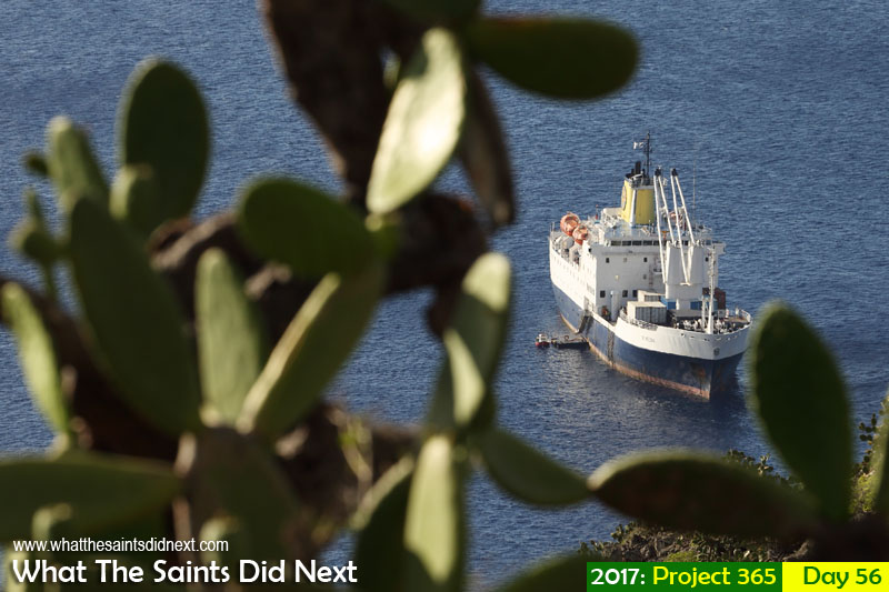 'Off The Wall' 25 February 2017, 17:03 - 1/500, f8, ISO-200 What The Saints Did Next - 2017 Project 365 RMS St Helena after returning from Ascension Island earlier this morning.